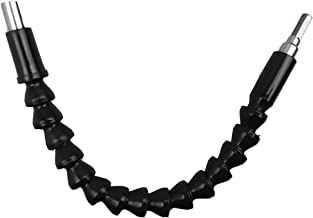 "ZORBES Baoblaze Segolike Metal 300 mm, Flexible 1/4"" Hex Screwdriver Extension Bar Drill Driver Shaft (Black)"