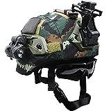 AQzxdc MICH 2000 Juego de casco táctico con gafas, linterna militar y montaje NVG, equipo protector de airsoft paintball para exteriores, funda de camuflaje extraíble, juegos D