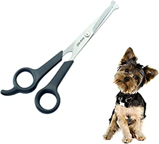 Professional Pet Grooming Scissors with Round Tip Stainless Steel Dog Eye Cutter for Dogs..