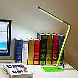 ELINKUME 7W Lmpara de escritorio LED con cuerpo de lmpara plegable giratoria, lmpara de mesa de luz de lectura de proteccin ocular regulable para oficina de estudio (verde)