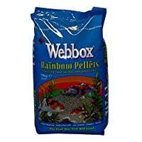 A colour enhancing diet in pellet form, Webbox Rainbow Pellets are a floating fish food that are non-clouding, with Vitamin C and Spirulina. Complete and balanced, Webbox Rainbow Pellets contain 25% protein and is a highly digestible recipe for all f...