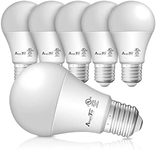A19 LED Light Bulbs- 6 Pack, AmeriTop Efficient 9W(60W Equivalent) 830 Lumens General Lighting Bulbs, UL Listed, Non-Dimma...