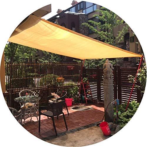 PLEASUR zonnescherm zeil voor tuin balkon luifel baldakijn dik 90% zonwering bescherming net beige HDPE raam luifel schaduw zeil luifel anti-tuin yard schaduw mesh