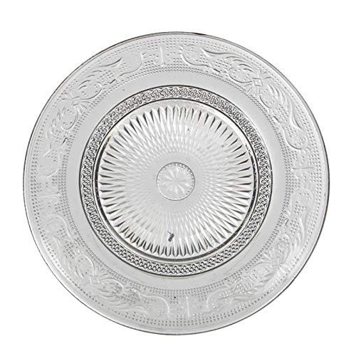 L'Héritier Du Temps Assiette Plate à Dessert Plat de Présentation Vaisselle en Verre Transparent Ø18cm