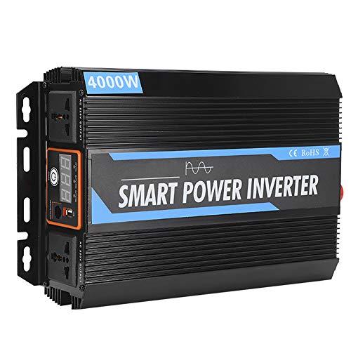 Inversor de Corriente del Coche de 4000W 12V a 220V Transformador de Voltaje del inversor de energía de Onda sinusoidal Pura Universal para el Coche