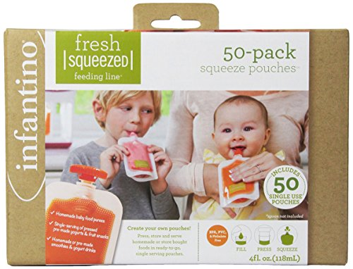 Infantino - 24377 - Pack de Bolsas Fresh Squeezed Infantino 120 ml 50 uds