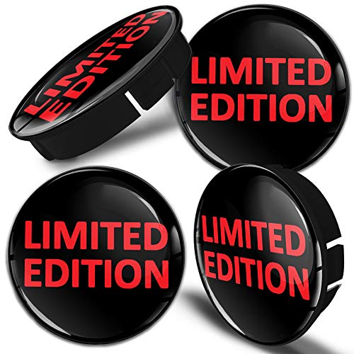 SkinoEu 4 x 60mm Universal Tapas de Rueda de Centro Limited Edition Tapacubos para Llantas Coche C 65