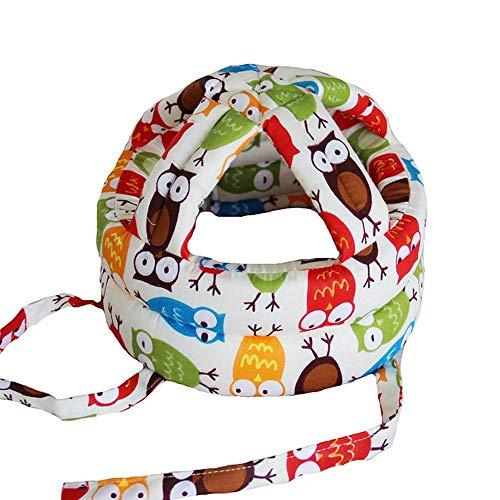 Aolvo Baby Helm Infant Kleinkind Keine Dellen Sicherheit Helm Bumper Motorhaube–Baby Head Kinder Displayschutzfolie Kopfschutz Baumwolle verstellbar Bedruckt Geschirre Cap für Kinder #4