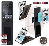 Hülle für HTC One S9 Tasche Cover Hülle Bumper | Braun Wildleder | Testsieger