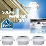 6 Pack Deal - Outdoor Solar Gutter LED Lights - White Sun Power