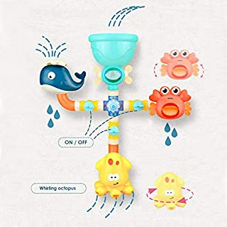 Lamlan NO.290A Submarine Spray Station, Bathtub Toys, Flow N Fill Spout Bath Toys,Assembles Pipe Water Toys, Multicolor (N...