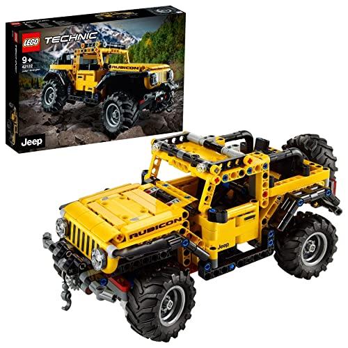 LEGO42122TechnicJeepWrangler,Coche4x4deJuguete,VehículoOffRoaderSUV,MaquetaSetdeConstrucción