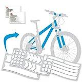 Mezanin - Pellicola protettiva per la vernice della bicicletta, trasparente, autoadesiva, universale, per Downhill, MTB, ecc., robusta e durevole, facile da montare, con 2 panni per la pulizia inclusi