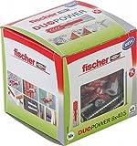 fischer - Cheville bi-matière et multi-matériaux DUOPOWER 8x40 avec vis / Boîte de 50