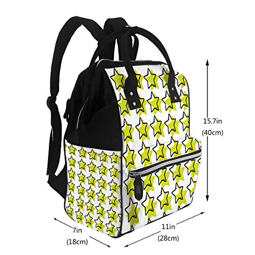 Water-Resistant Baby Bags Color Stars Sky Decoration Background Design Large Cap