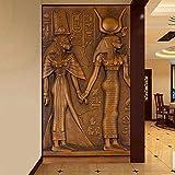 Arte Moderno Pintura Mural Para La Sala 3D Antiguo Egipcio Faraón Entrada Corredor Fotomurales Papel Pintado Papel De Parede 3D 200 * 140cm