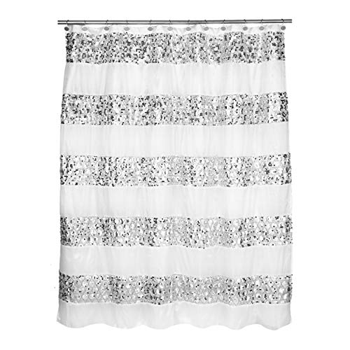 Popular Bath Shower Curtain, Sinatra Collection, White