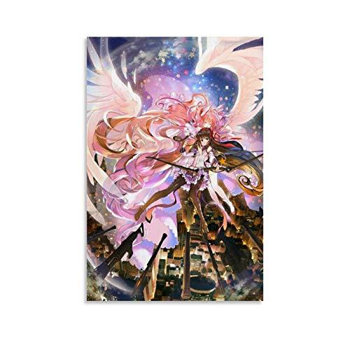Puella Magi Madoka Magica Anime Poster Pintura Decorativa Lienzo Pared Arte de Sala Posters Pintura Dormitorio 50x75cm