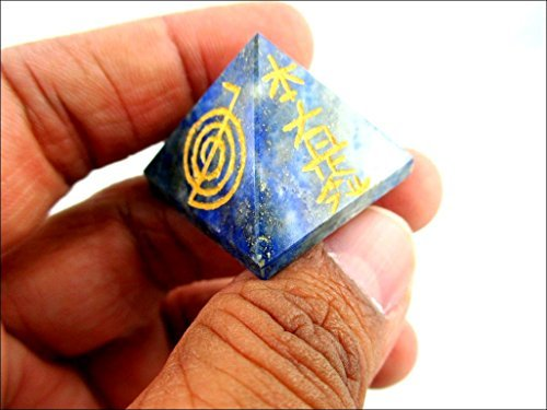 Details about Jet Lapis Lazuli Pyramid Usui Reiki Healing Chakra Balancing  Meditation Aura