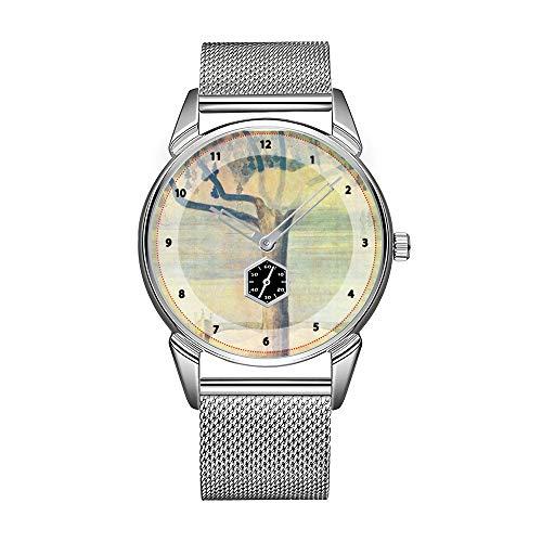 Mode Herrenuhr silbernen Edelstahl wasserdichte Uhr Herren Top-Marke Herrenuhr Uhr Andalusien Kunst der Fliesen und marokkanischen Keramik in Uhr
