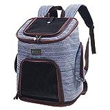 Petsfit Haustier Rucksack für Hund und Katzen,Atmungsaktive Faltbare Hunderucksack Katzenrucksack mit internem Sicherheitsgur (maximale Last 8kg)