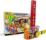 Bsol Domino Zug Spielzeug Set, Domino Rally Elektronische Zug Modell Bunt Spielzeug Set, Mädchen Junge Kinder Geschenk Puzzle Spielzeug