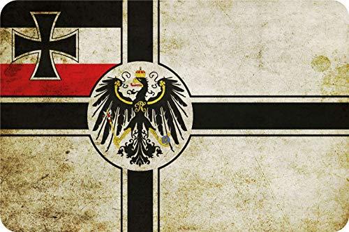 Blechschild Deuschland Fahne länder Flagge mit Adler Metallschild tin Sign Deko