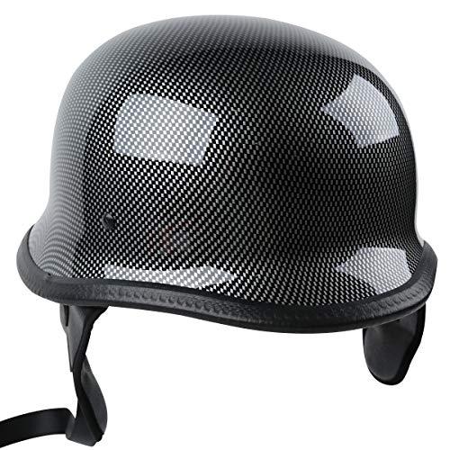 TCT-MT DOT Helmet German Style Helmets Carbon Fiber Graphics Half Helmet Cruiser Touring Scooter Motorcycle Biker Helmets Large