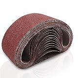Coceca 3x18 Inches Sanding Belt, 21 Packs Aluminum Oxide Sanding Belts Sandpaper (3 Each of 40 60 80 120 180 240 320 Grit) for Belt Sander