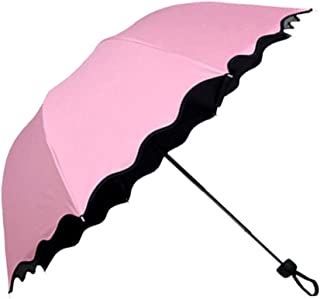 Honeystore Blossom Magic Compact Umbrella Triple Folding Anti-uv Dome Parasol Pink