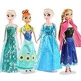 4Pcs Frozen 2 Princess Anna Elsa PVC Figuras De Acción Modelo Boneca Toys, Elsa Dolls Kids Collection