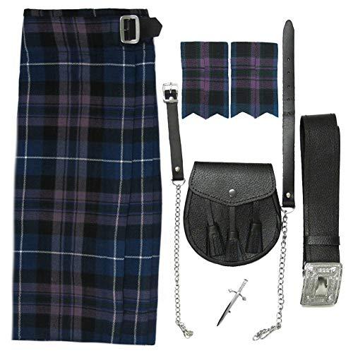 Tartanista Conjunto para hombre - Kilt escocés/sporran/complementos - Honour Of Scotland - UK52 (132 cm)