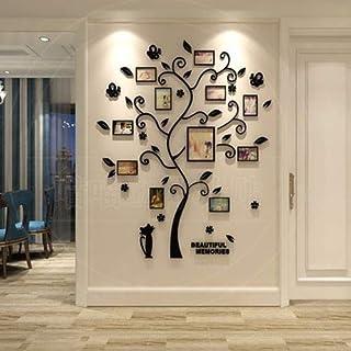 ColorJoy Pegatinas de pared 3D Papel de pared estereoscópico a prueba de agua para la sala de estar dormitorio decoración arte calcomanía extraíble decoración para el hogar árboles pegatina para fotos álbumes