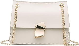 : sac a main carre blanc : Chaussures et Sacs