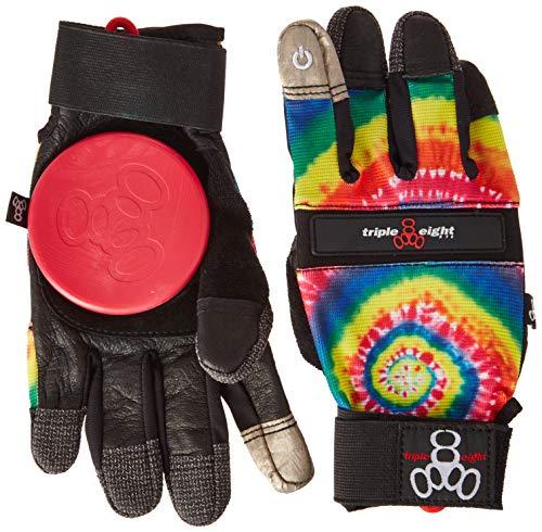 Triple Eight Downhill Longboard Slide Handschuh für Downhill Skateboarding (1 Paar), Tie Dye, L/XL