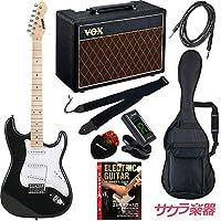 SELDER セルダー エレキギター ストラトキャスタータイプ サクラ楽器オリジナル ST-16M/BK VOXアンプ付属 スーパーリミテッドセット