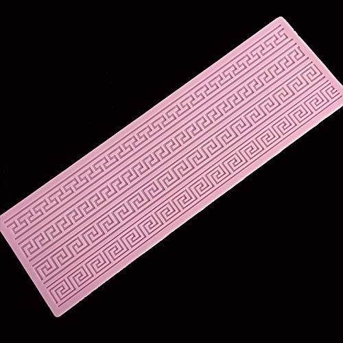 Muffa delmerletto della torta dellastriscia della muffa del silicone del pizzo dellatorta Strumento della decorazione del bordo della tortaStampo per goffratura del mestiere dello zucchero