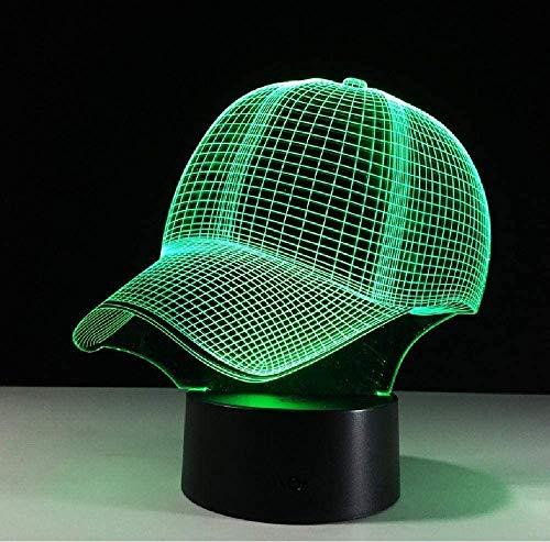 20 Changement De Couleur Casquette De Baseball 3D Night Light Baby Sleeping Light Lamp Pour Enfants Amis Cadeau De Fête D'Anniversaire Smartphone Bluetooth Control