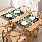 FloraGrantnan Decor - Manteles individuales resistentes al calor, diseño de búho, resaca cansada en roble con árbol de roble, para decoración de mesa de comedor, banquete de vacaciones, juego de 10