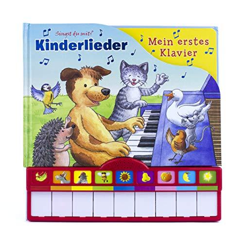 Kinderlieder, Mein erstes Klavier: Kinderbuch mit Klaviertastatur - Vor- und Nachspielfunktion, Papp
