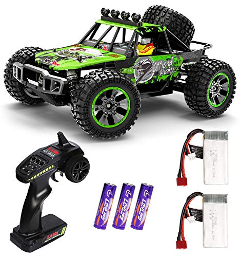 RC Cars, 1:10 Scale Large High Speed Remote Control Car for Adults Kids Boys, 30+ MPH 4WD 2.4 GHz Off Road Monster Truck Toys, All Terrain Electric Vehicle Boy Gifts with 2 Batteries for 40+ Min Play