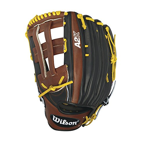 Wilson 2016 A2K 1799 Outfield Baseball Glove, Black/Walnut/Blonde, Right Hand Thrower