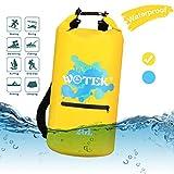 WOTEK Dry Bag, 20L wasserdichte Tasche Wasserdichter Packsack mit Reißverschluss,2 Lange verstellbaren Schultergurten für Strand, Segeln, Skifahren,...