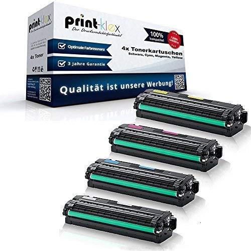 4x kompatible Tonerkartuschen für Samsung CLP410 Series XpressC1800W Series Xpress C1810 W Xpress C 1860 Xpress C 1860 FW Black Cyan Magenta Yellow CLT-K504S CLT-C504S CLT-M504S CLT-Y504S CLT504 CLT-504