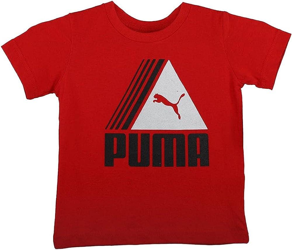 PUMA Toddler Boys Screen Print T-Shirt Top Crew Neck - Red