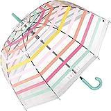 Esprit Paraguas automático con campana, transparente a rayas