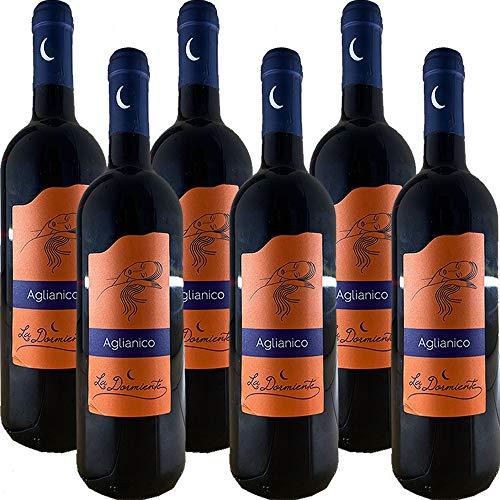 Aglianico del Beneventano IGP | La Dormiente | Confezione da 6 Bottiglie da 75Cl | Vino Rosso del Monte Taburno | Campania | Sannio