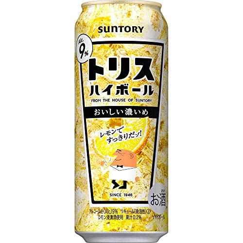 サントリー トリスハイボール缶 キリッと濃いめ 500ml×4本