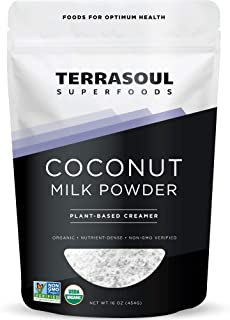 Terrasoul Superfoods Organic Coconut Milk Powder, 16 Oz – Plant-Based Creamer | Keto Friendly