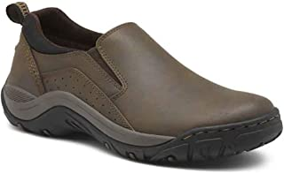 New Mens Garfield Slip-On Leather Shoes Brown - Choose Size!